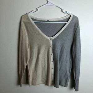 Margaret O'Leary Sweaters - Margaret O'Leary Split Color Button Sweater
